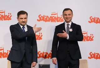 Andrzej Duda endorsed by Solidarity Trade Union.