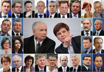 Beata Szydlo's New Cabinet takes shape in Poland.