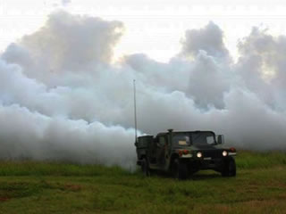 Russia invented a fog generator to hide missiles and rocket launchers from satellites.